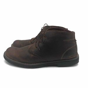 Clarks Mens Chukka Boots Brown Leather Lace Up 12M